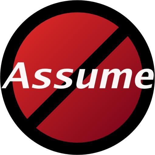Assume with line through